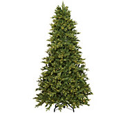 As Is Scott Living 5 Color Flip LED Fir Christmas Tree w/ 7 Functions - H213866