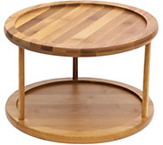 Lipper Bamboo Turntable, 2-Tier - H292466