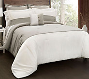 Contemporary 6-Piece Full/Queen Comforter Set by Lush Decor - H292566