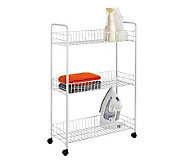 Honey-Can-Do 3-Tier All-Purpose Household Cart-White - H356466
