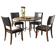 Hillsdale Cameron 5pc Round Dining Set w/ParsonChairs - H358766