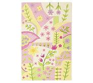 5 x 76&quot Princess Garden Wool Handmade Rug - H139767
