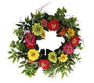 Zinnia 24-inch Wreath by Valerie - H202067