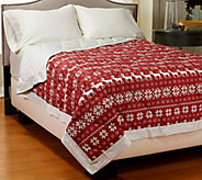 Northern Nights Fair Isle 400TC Extra Warmth QN Reversible Down Blanket - H206967