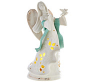 Lenox Porcelain Gifts of Grace Illuminated Angel Figurine with Gift Box - H208467