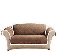 Sure Fit Reversible Suede-to-Sherpa Loveseat Furniture Cover - H209467