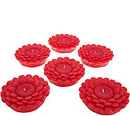 HomeWorx by Harry Slatkin Set of 6 Small Wax Flowers - H213667