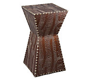 Glenwood Faux-Leather Accent Table - H281167
