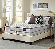 Serta Glisten Firm Queen Mattress Set w/ Spli t Foundation - H286567