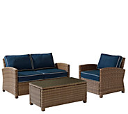 Crosley Bradenton 3-Piece Wicker Seating Set with Cushions - H286667