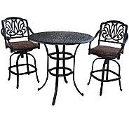 Home Styles Floral Blossom 3-pc Round Bistro Table w/ 2 Stools - H367867