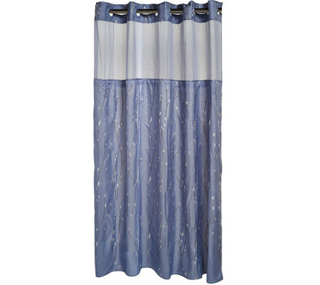Hookless Cherry Blossom Embroidery 3 In 1 Shower Curtain