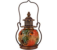 Porcelain Harvest Lantern with Flameless Candle by Home Reflections - H205568