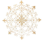 Plow & Hearth Indoor Outdoor 31.8 Diameter Metal Snowflake Medallion - H205968
