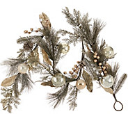 5 Vintage Pine Garland with Embellishments - H206568