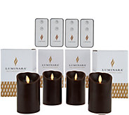 Luminara (4) 4 Flameless Candles with 4 Remotes and Gift Boxes - H208268