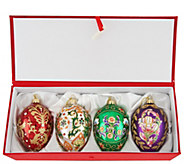 Joan Rivers 2016 Set of 4 Russian Inspired Egg Ornaments - H208568