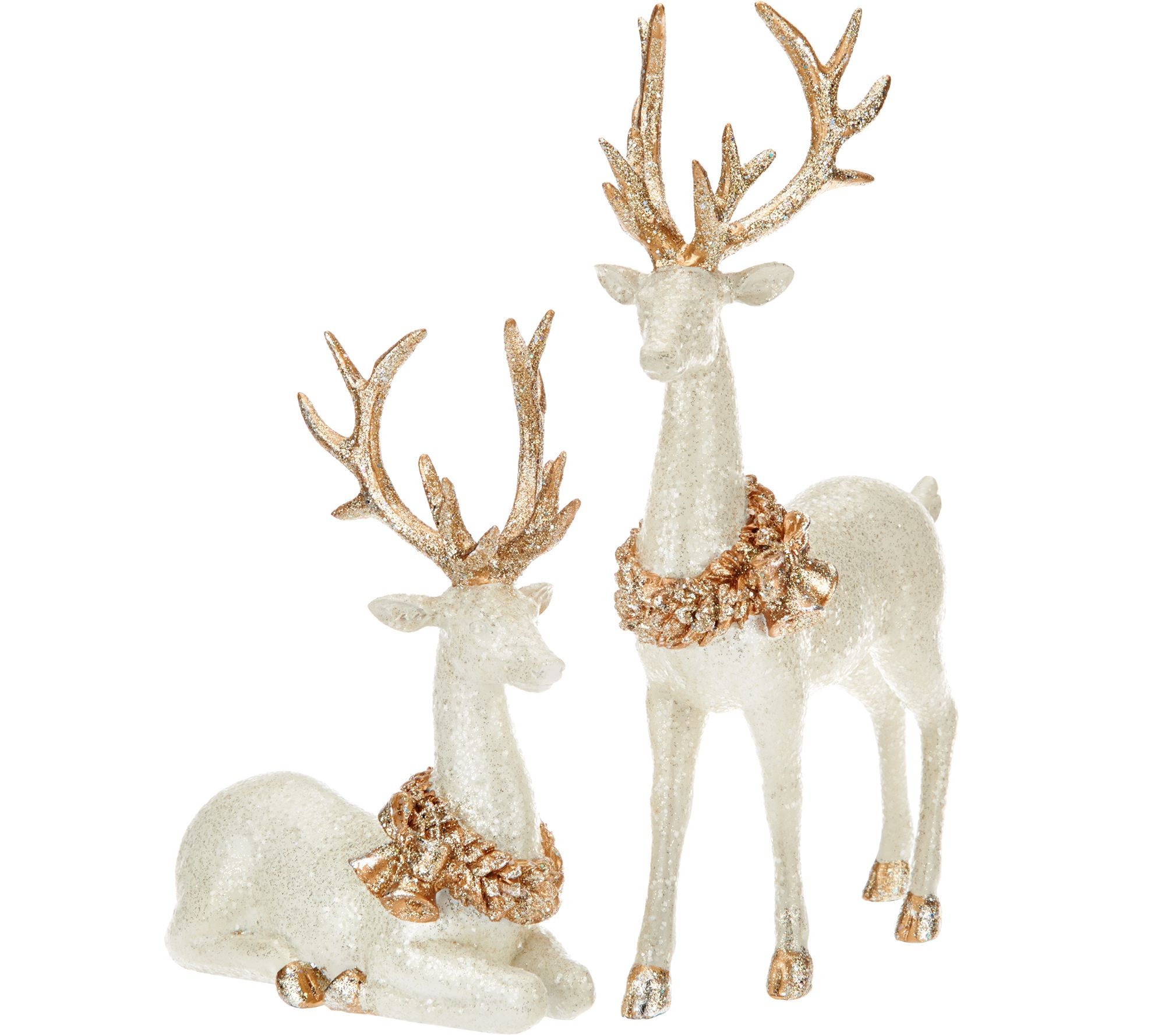 Set of 2 Glittered Vintage Reindeer by Valerie - Page 1 ...