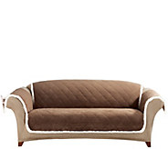 Sure Fit Reversible Suede-to-Sherpa Sofa Furniture Cover - H209468
