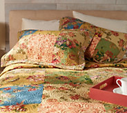 Country Cottage 100Cotton Patchwork Pieced Quilt with Sham(s) - H212668