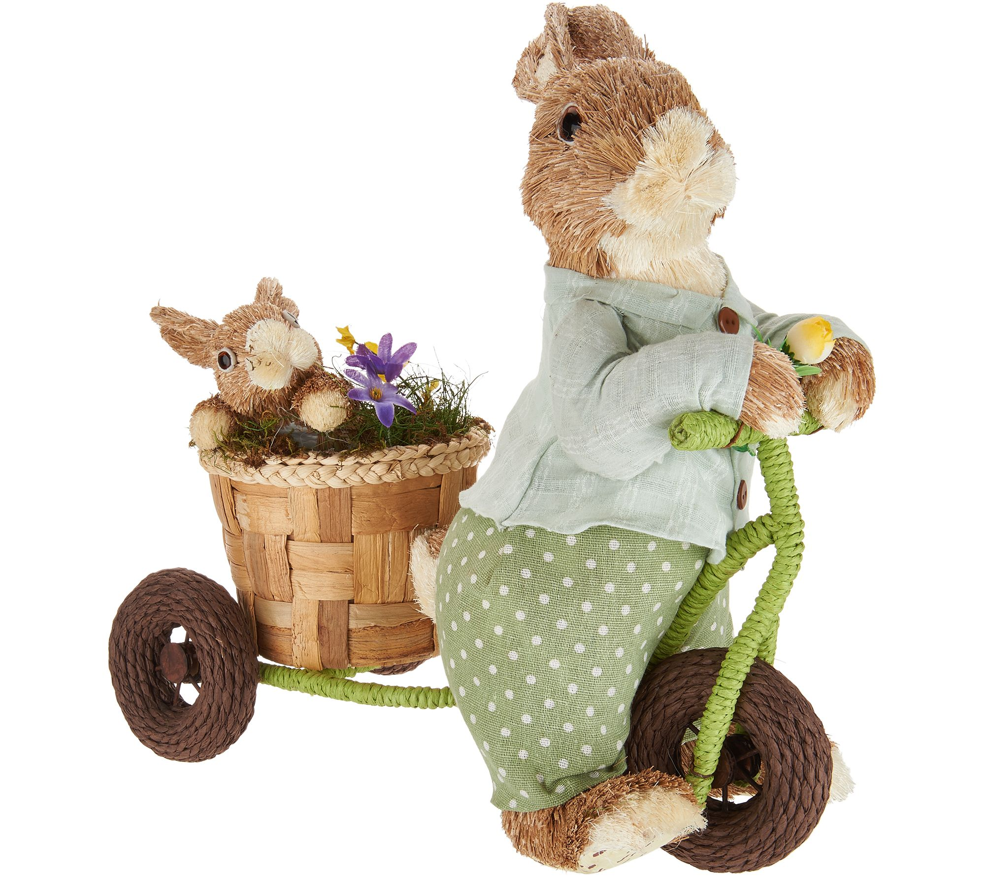 Anniversary Spring Sisal Brother Bunny On Bike By Valerie   H213768