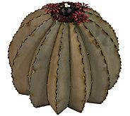 Desert Steel Golden Barrel Cactus Garden Tiki Torch, Small - H284568