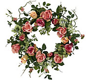 20 Rose Wreath by Nearly Natural - H292168