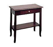 Merlot Collection Foyer Solid Wood Table by Office Star - H123869