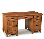 Home Styles Arts & Crafts Pedestal Desk - H159669