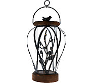 19 Illuminated Wrought Iron and Wood Lantern by Home Reflections - H205569