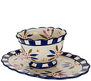 Temp-tations Old World 2 qt. Bowl with Platter - H206169