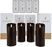Luminara (4) 6 Flameless Candles with 4 Remotes and Gift Boxes - H208269