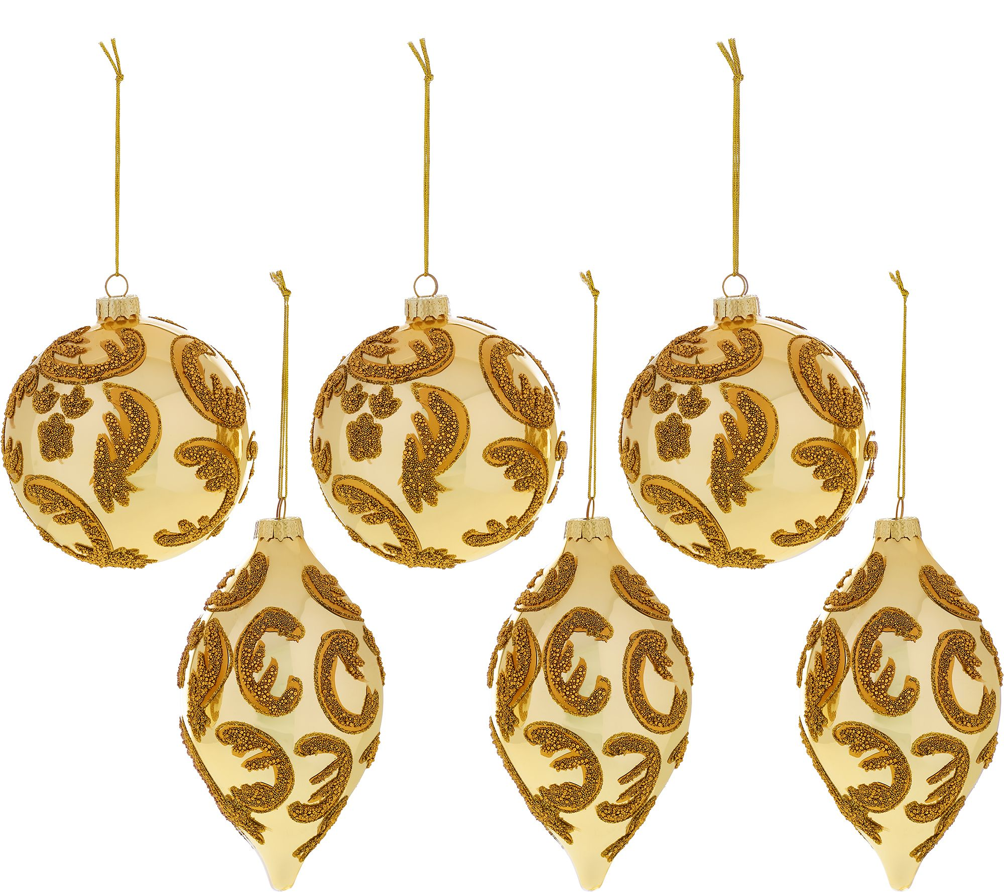 Set of 6 beaded ornaments by valerie page 1 for H h christmas decorations