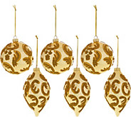 Set of 6 Beaded Ornaments by Valerie - H208969