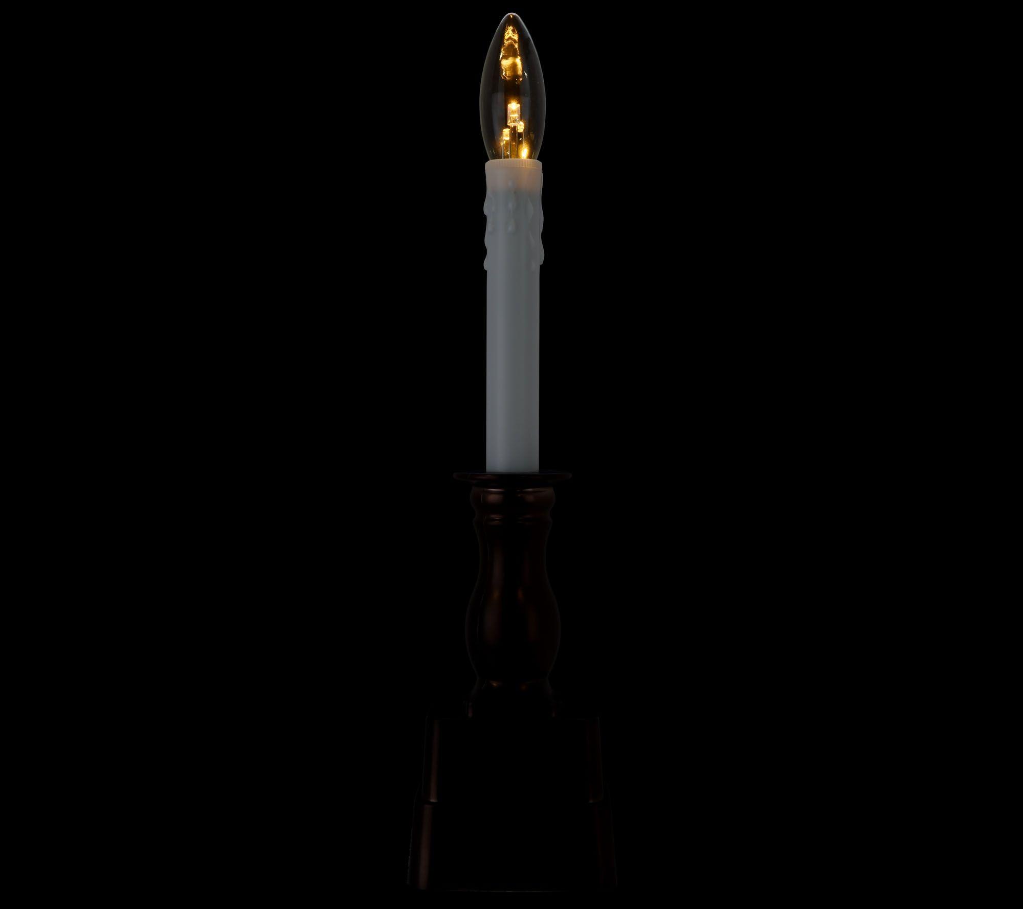 Bethlehem lights window candles with timer - Bethlehem Lights Set Of 4 Battery Op Slim Base Window Candles Page 1 Qvc Com