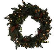 Bethlehem Lights 24 Eucalyptus & Pine Plug In Wreath - H213169