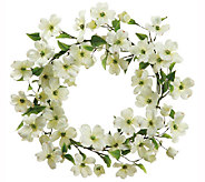 22 White Dogwood Wreath by Valerie - H283269