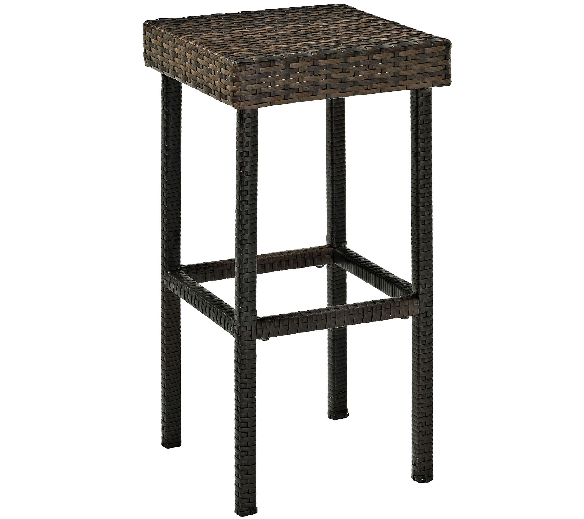 Palm Harbor Outdoor Wicker 29quot Bar Height Stool Set of 2  : h288569 from www.qvc.com size 2000 x 1778 jpeg 214kB