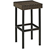 Palm Harbor Outdoor Wicker 29 Bar Height Stool- Set of 2 - H288569