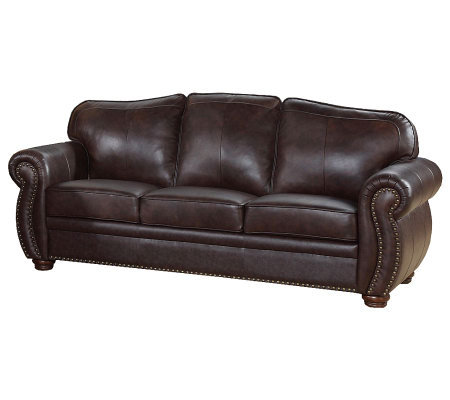 Abbyson Living Palazzo Italian Leather Sofa H358069