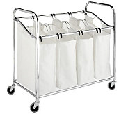 Whitmor Laundry Sorter 4 Section Chrom - H367769