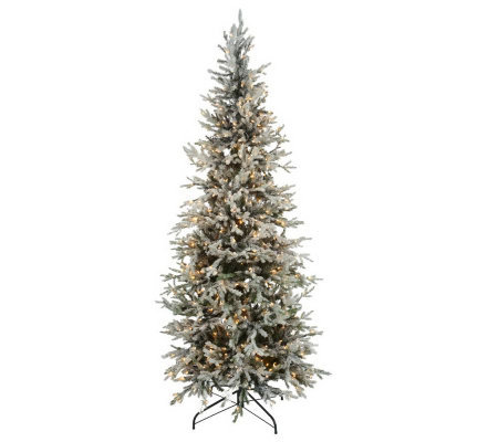 BethlehemLights Prelit 7 5 Flocked Christmas Tree — QVC