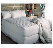 Beautyrest 300TC Twin Cotton Sateen Stripe Mattress Pad - H121070