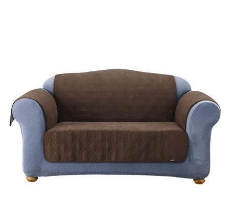 Sure Fit Soft Faux-Suede Furniture Friend Pet Throw - Sofa ...