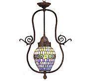 Tiffany Style 7W Belted Turtleback Globe Pendant Light - H181370