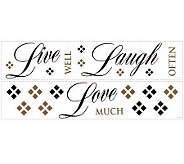 RoomMates Live Love Laugh Peel & Stick Wall Decals - H186270