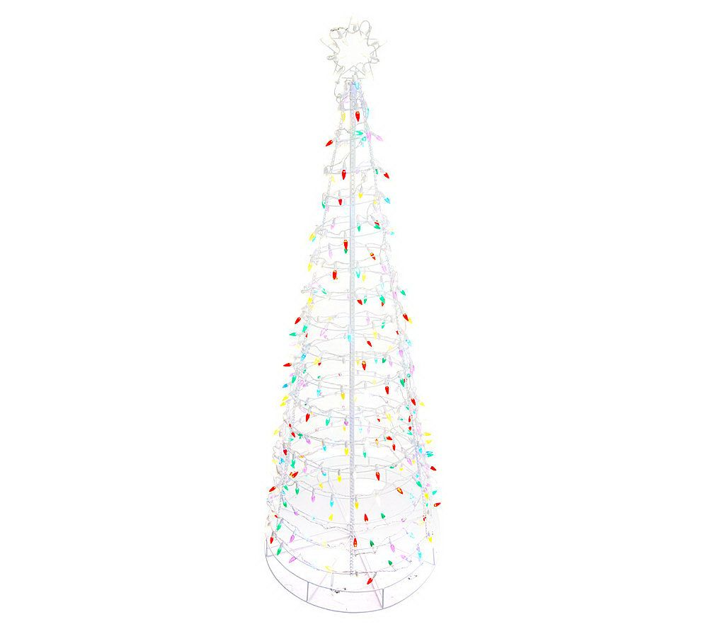 Santa S Best 4 Collapsible Outdoor Pre Lit Christmas Tree