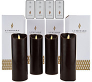 Luminara (4) 8 Flameless Candles with 4 Remotes and Gift Boxes - H208270