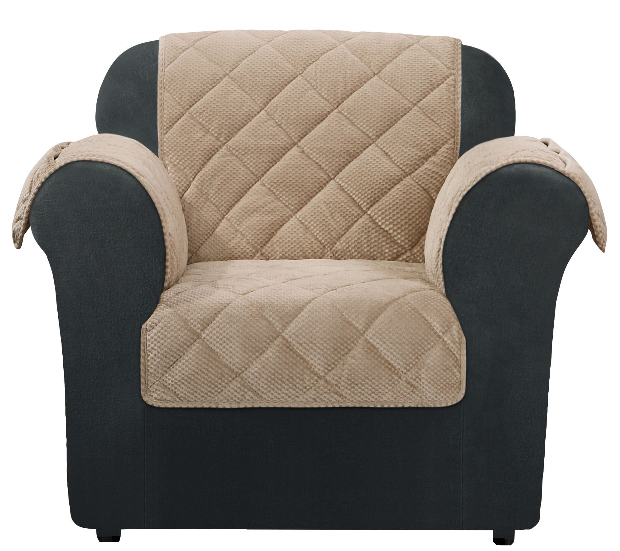 Sure Fit Chair Furniture Cover with Textured Pique Fabric Page 1