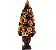 20 Vintage Metallic Sugared & Beaded Fruit Topiary in Urn - H209570